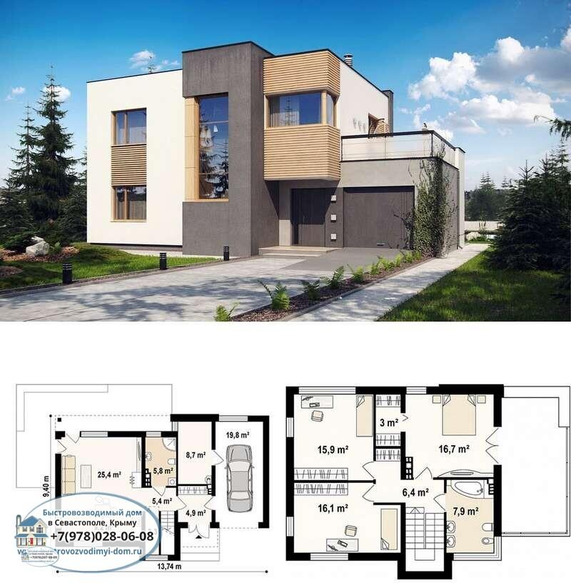 Недорогой каркасный дом Севастополь