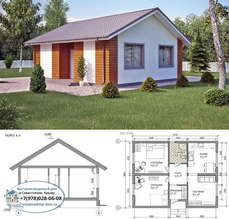Каркасный дом под ключ Севастополь