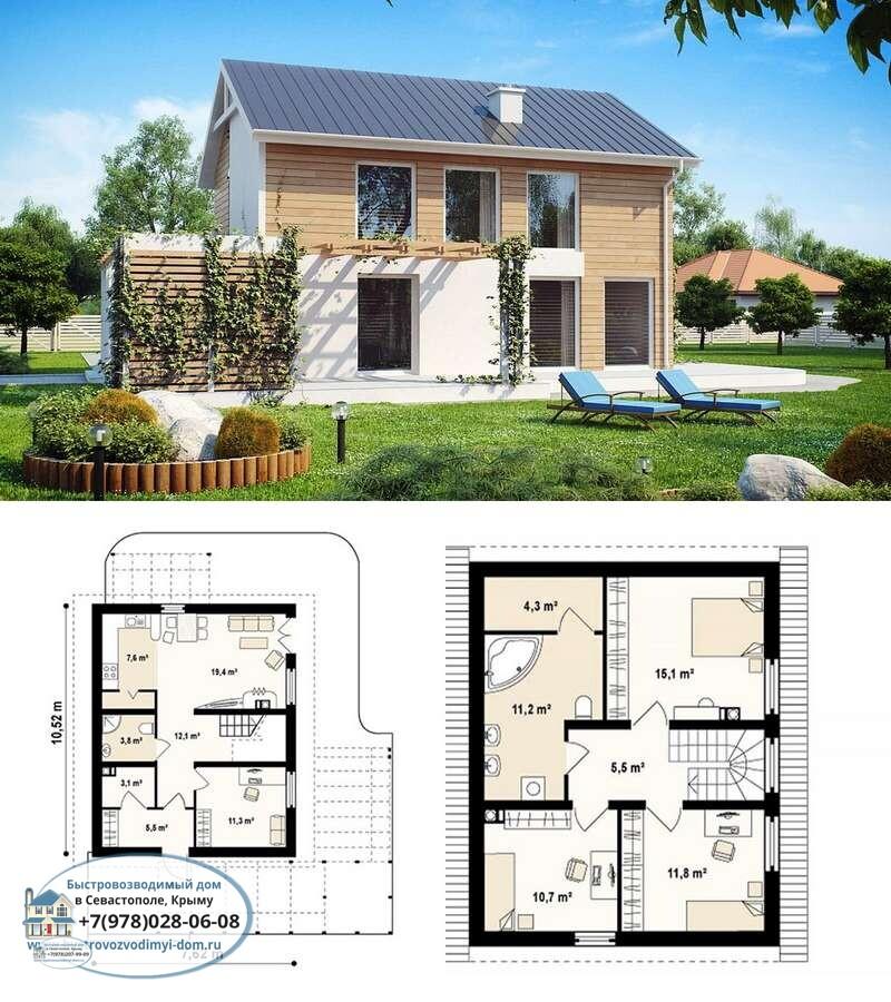 Строительство деревянных каркасных домов цена Севастополь