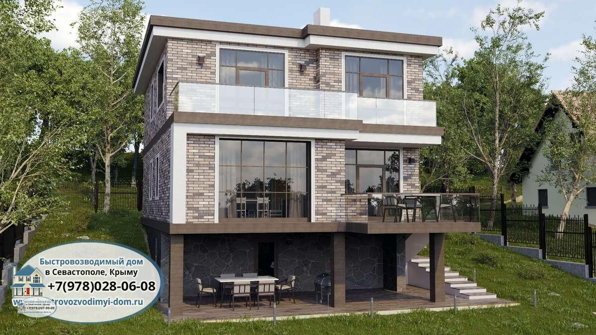 Проект дома Севастополь из газоблока
