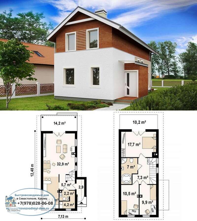 Строительство недорогих каркасных домов цена Севастополь