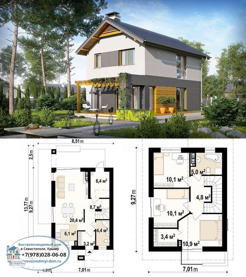 Строительство каркасных домов под ключ недорого Севастополь