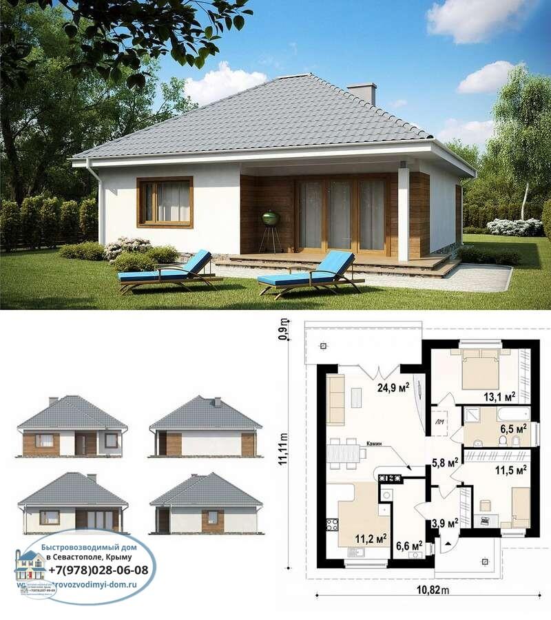 Строительство каркасных домов недорого Севастополь