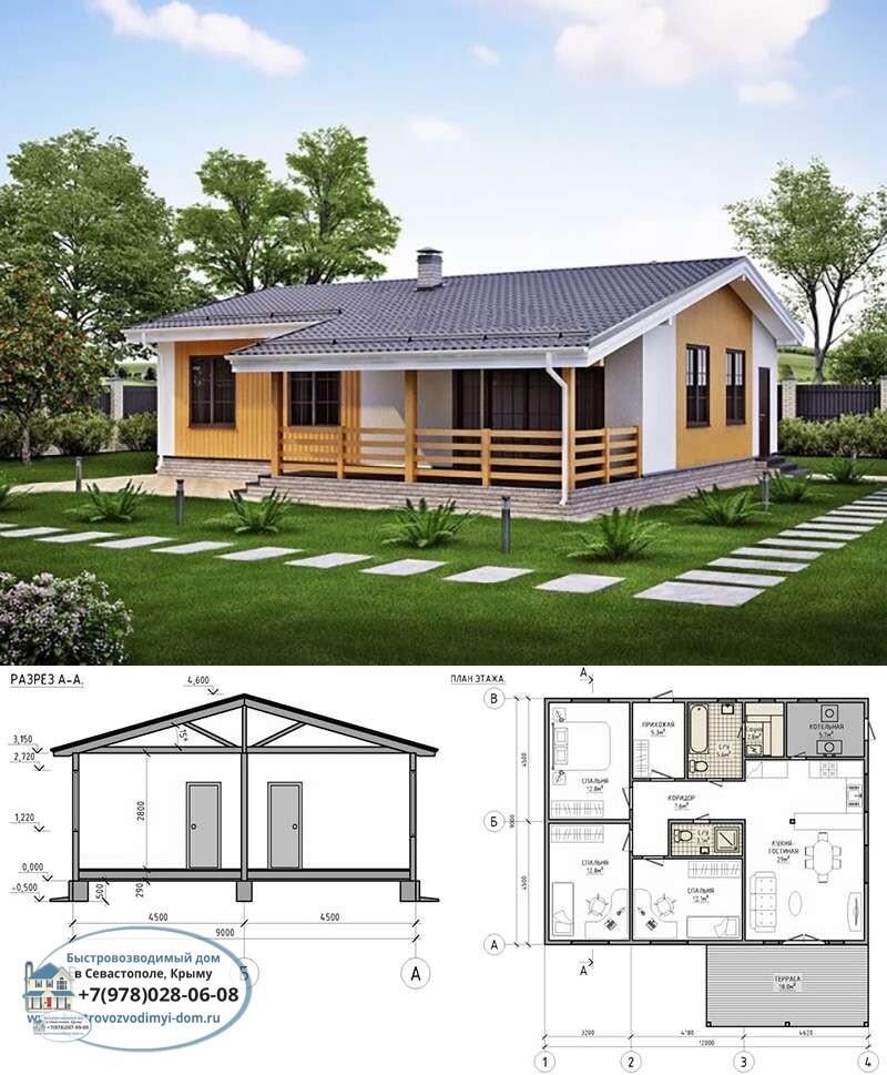 Строительство каркасных домов под ключ проекты Севастополь
