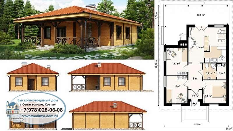 Строительство каркасных домов проекты Севастополь