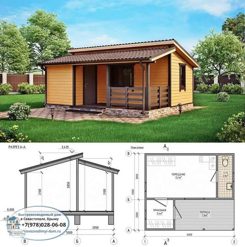 Каркасные дома в Крыму цена строительства Севастополь