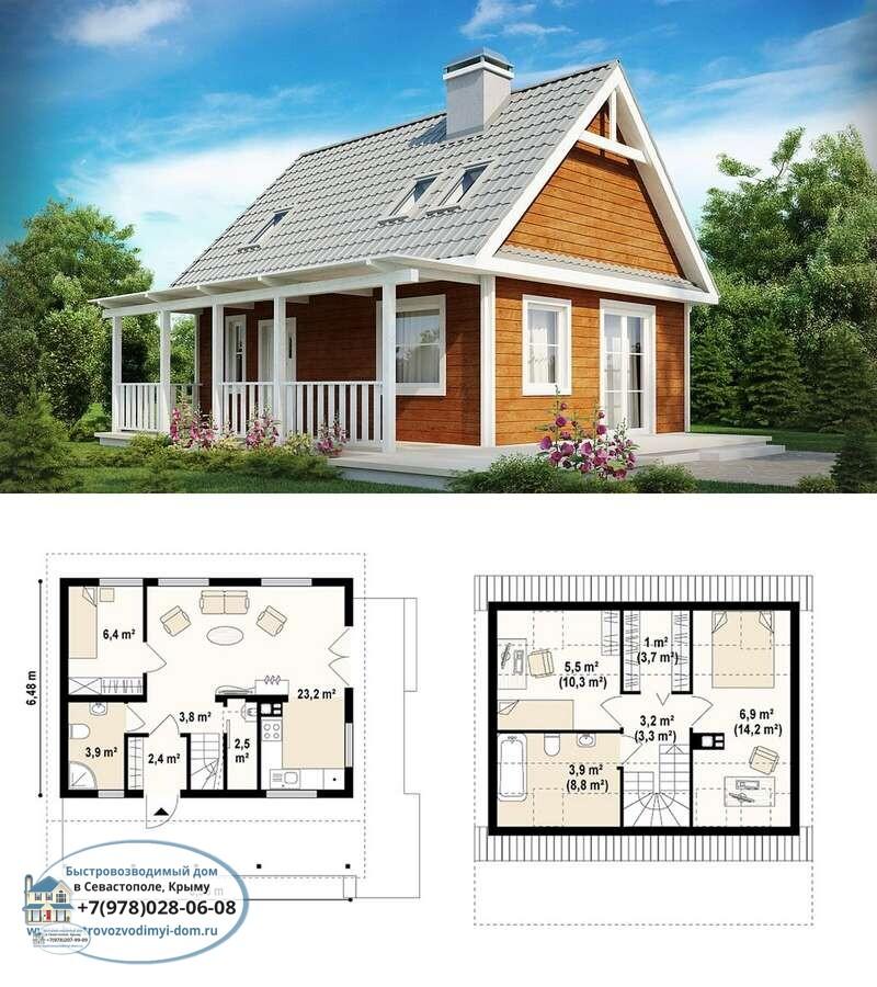 Строительство каркасных домов под ключ Крым Севастополь